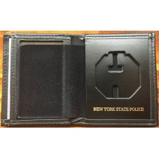 New York State Police (NYSP) Hidden Badge Wallet With Imprint