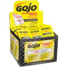 Gojo Scrubbing Wipes 80 Count Individual Wrap Display