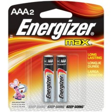 Energizer Max E92 AAA Alkaline Battery - 2 Count Blister Pack