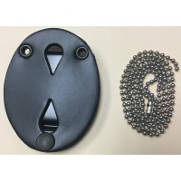 Perfect Fit Universal Oval Clip on Badge Holder with Snap and Chain
