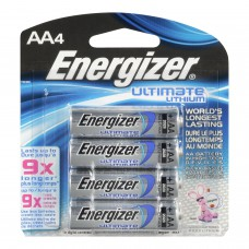Energizer® Ultimate Lithium AA Batteries, Blister Pack (4 Pack)