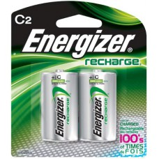 Energizer NH35 Rechargeable NiMH C Battery - 2 Count Blister Pack
