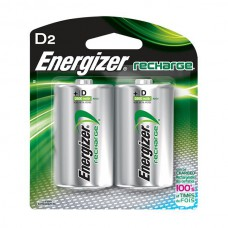 Energizer® Recharge® D Batteries, 2/Pkg