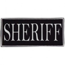 Voodoo Tactical Law Enforcement Sheriff Patch (White)